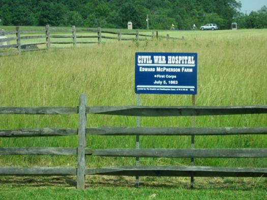 Gettysburg hospital sign