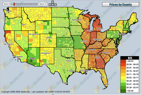 Gas Price Heat Map